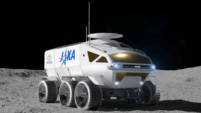 In Verbindung mit dem effizienten Brennstoffzellenantrieb können Raumfahrer die Mondoberfläche noch genauer erkunden. © Toyota