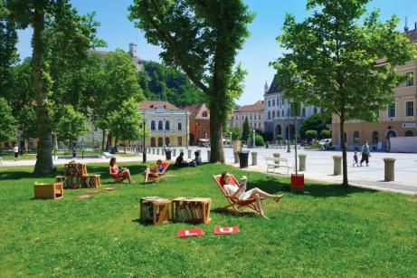 Ljubljana – auch 2019 wieder als eine der nachhaltigsten Destinationen ausgezeichnet. © www.slovenia.info/ Nea Culpa d.o.o,