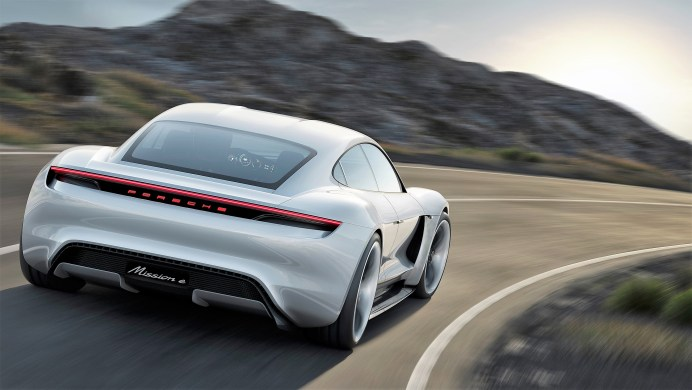 Die Konzeptstudie Mission E aus dem Jahr, 2015. © Porsche