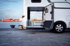 Die Garage in Heck der B-Klasse Masterline-Modelle fasst bis zu 3.800 Liter. © Hymer