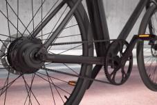 Der Motor steckt im Hinterrad, statt einer Kette gibt es Riemenantrieb. © Cowboy