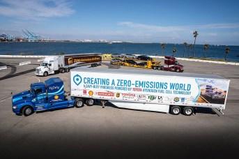 Kennworth mit Brennstoffzellentechnik von Toyota.Foto: Auto-Medienportal.Net/Toyota