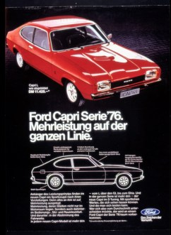 Werbeplakat für den Ford Capri II (1974–1977). Foto: Auto-Medienportal.Net/FordFoto: Ford