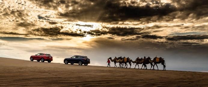 Spektakuläre Kulisse für den Maserati Levante © Maserati