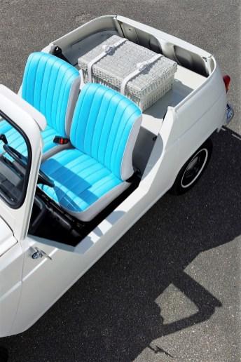Oberhalb des Akkus platzierten die Designer stilvoll einen Picknick-Korb. © Renault