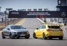 Für echte AMG-Fans kann es nur einen geben: Der A45 (r.) ist ein wenig direkter und härter abgestimmt als der CLA. © Daimler