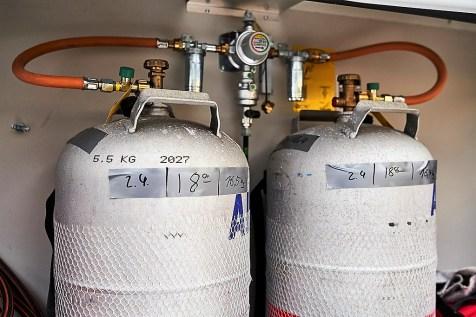 ADAC-Test Wintercaravans: Auch der Gasverbrauch wurde dokumentiert. Foto: Auto-Medienportal.Net/ADAC