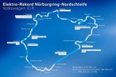 Elektro-Rekord auf der Nürburgring-Nordschleife. © Volkswagen