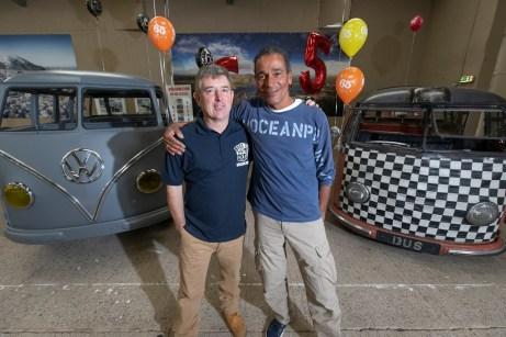 Busfest 2019: Andy Morgan (links) und Rikki James. Foto: Auto-Medienportal.Net/Volkswagen