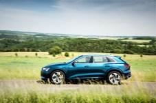 Der Auto e-tron von Futurismus keine Spur. © Audi