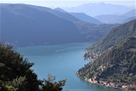 Blick aus dem Hotel Serpiano auf den Luganer See. © Kurt Sohnemann