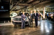 Jetzt wurde ein fünfsitziges Schwestermodell des Volkswagen Atlas an seinem Fertigungsort in Chattanooga, Tennessee, USA vorgestellt. © VW