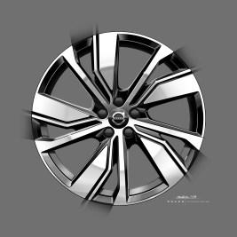 Möglichkeiten zur Personalisierung bieten zwei neue Rad-Designs im 19- und 20-Zoll-Format. Foto: Volvo