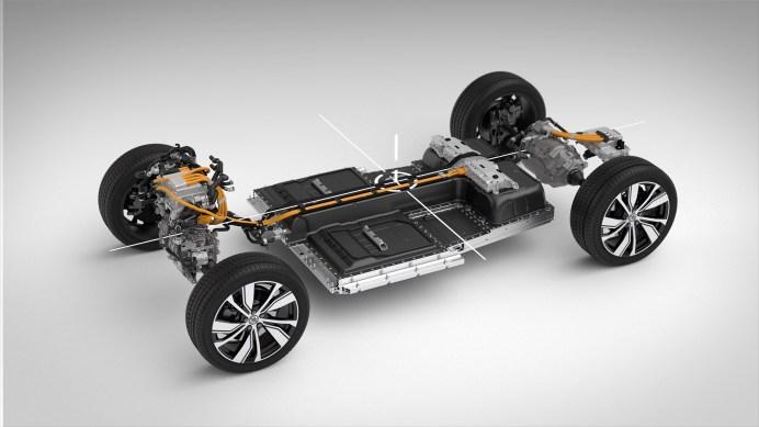 Der voll elektrische XC40 SUV mit dem Batterie-Paket – Volvos erstes Elektroauto. © Volvo
