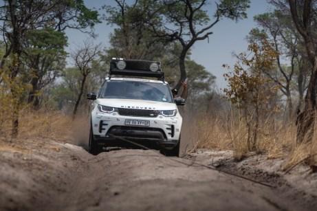 Lenken ist in den tiefen Sandrillen auf mindestens 90 Prozent der Strecke kaum nötig. © Henning Lueke / Jaguar Land Rover