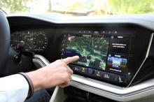 Ein 15-Zoll-Touch-Screen-Bildschirm, zuständig für das Infotainment, Klima oder Assistenzsysteme etc. © VW