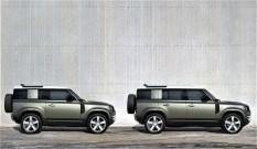 Land Rover Defender 90 und 110 (von links). Foto: Auto-Medienportal.Net/Jaguar Land Rover