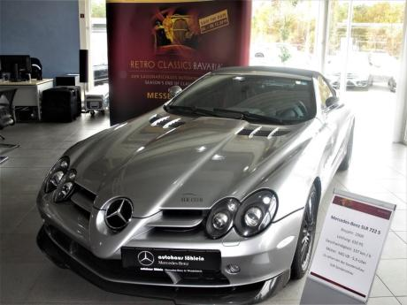 Mercedes SLR 722 S mit 478 kW / 650 PS starkem V8-Motor und 337 km/h Spitze.