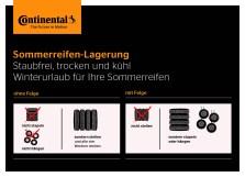 Continental verdeutlicht im Schaubild die richtige Sommerreifen-Lagerung.