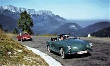 Zwei Jahre nach dem Coupé rollte ab November 1957 der VW Karmann Ghia Typ 14 auch als Cabriolet vom Band. Foto: Auto-Medienportal.Net/Volkswagen