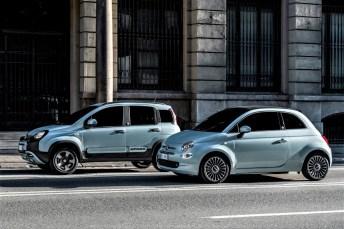 Fiat 500 Hybrid Launch Edition (rechts) und Panda Hybrid Launch Edition. Foto: Auto-Medienportal.Net/Fiat