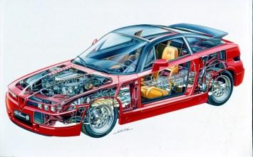Als Antriebsquelle dient der V6-Benziner mit drei Litern Hubraum aus dem Alfa Romeo 75 America. Dessen Leistung steigert man durch schärfere Nockenwellen und neu programmierte Motorelektronik (Bosch Motronic) auf 210 PS. © FCA
