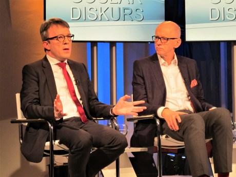 Datenschützer Sven Hermerschmidt und Publizist Guido Reinking.
