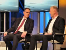 HUK-Vorstand Dr. Rheinländer und Prof. Dr. Wagner (IVL