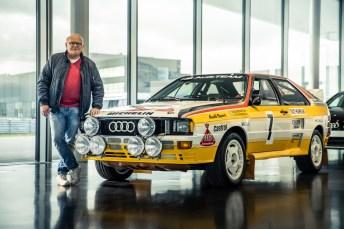 Alter Schwede: Stig Blomqvist hat mit seinem Dienstwagen schon 1984 gezeigt, was mit dem Quattro-Antrieb möglich ist. © Audi