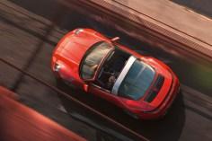 Der Porsche Targa aus der Vogelperpektive. © Porsche