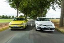 VW Golf e-Hybrid (links) und GTE. Foto: Auto-Medienportal.Net/Volkswagen/Markus Heimbach
