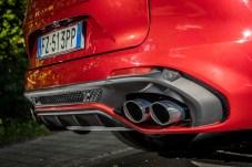 Sprachrohre: Vier Auspuff-Öffnungen zieren nicht nur beim Stelvio das Heck. © Alfa Romeo