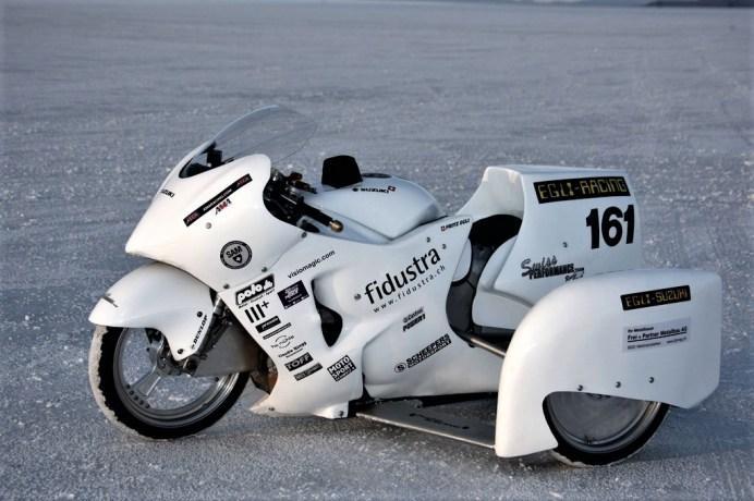 Fritz Egli brach mit einer getunten Suzuki Hayabusa den Seitenwagen-Weltrekord. Foto: Auto-Medienportal.Net/Swissperformance