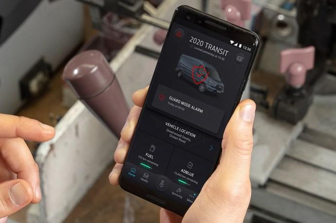 Ab sofort ist der sogenannte Guard-Modus in der FordPass Pro-App verfügbar. © Ford