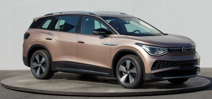 Der Elektro-SUV ID.6 X von Volkswagen, der in China gebaut und vorerst auch dort vertrieben wird. Foto: SAIC-Volkswagen