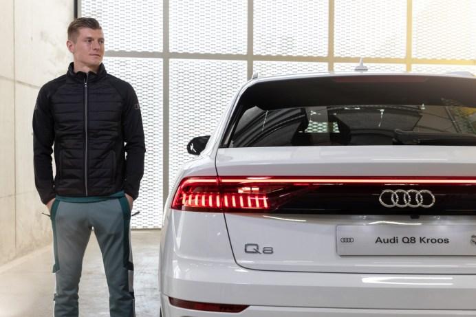 Neuer Dienstwagen von Mittelfeld-Regisseur Toni Kroos: ein Q8 50 TDI quattro. © Audi