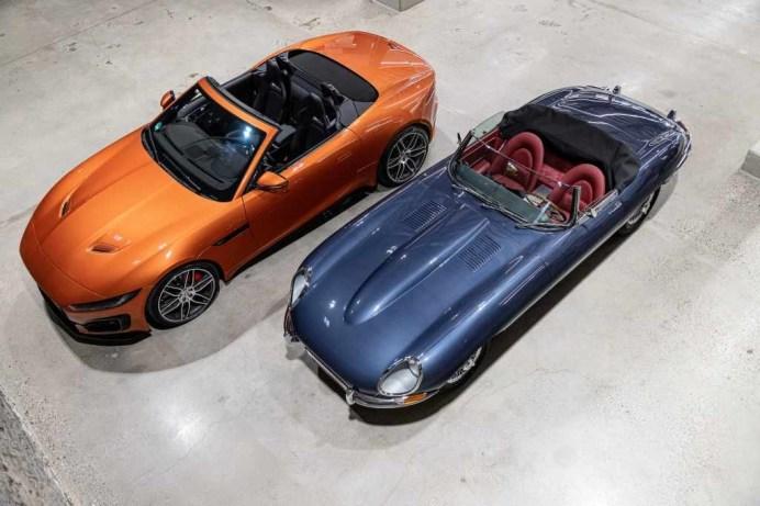 Jaguar E-Type und F-Type. Foto: Jaguar