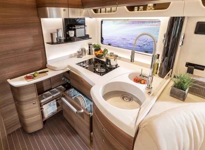 Küche im Concorde-Luxusliner. Foto: Auto-Medienportal.Net/Concorde