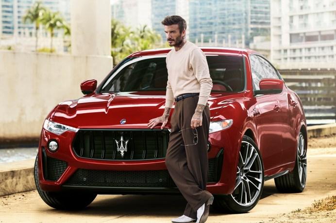 Cooles Duo: David Beckham ist neuer Maserati-Markenbotschafter. © Maserati
