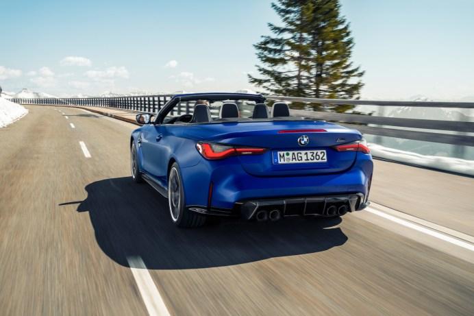 Vier dicke Auspuff-Endrohre versprechen reichlich Kraft. © BMW
