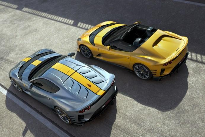 Exklusives Duo: Der 812 Competizione (links) und der 812 Competizione A. © Ferrari