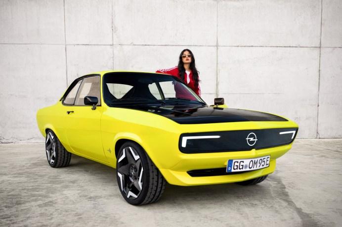 Wieder filmreif: der Opel Manta. Dieses Mal kommt er als Stromer auf die Welt. © Opel