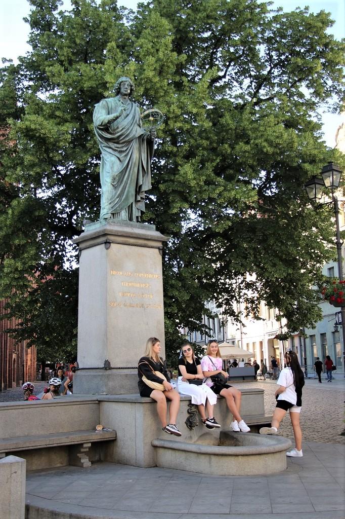 Nikolaus Kopernikus ist in Torun allgegenwärtig. © Kurt Sohnemann
