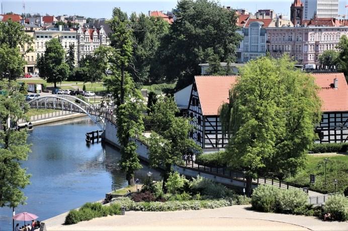 Blick auf die Altstadt Bydgoszcz von der Mühleninsel. © Kurt Sohnemann