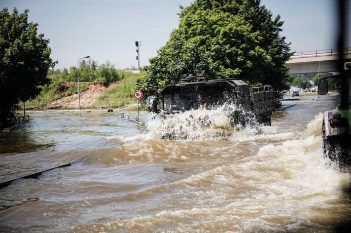 MAN-Fahrzeuge im Einsatz bei Hochwassergebieten. Foto: Auto-Medienportal.Net/MAN