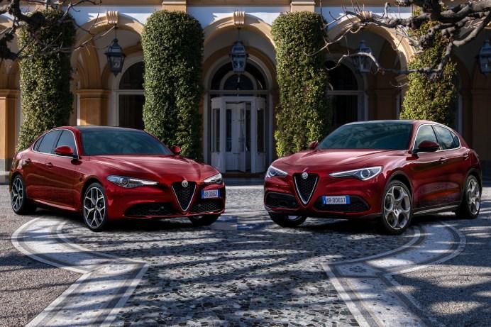 """Edle Sondermodelle: Alfa Romeo """"Giulia"""" und """"Stelvio"""" in der limitierten Edition """"Villa d'Este"""". © Alfa Romeo"""