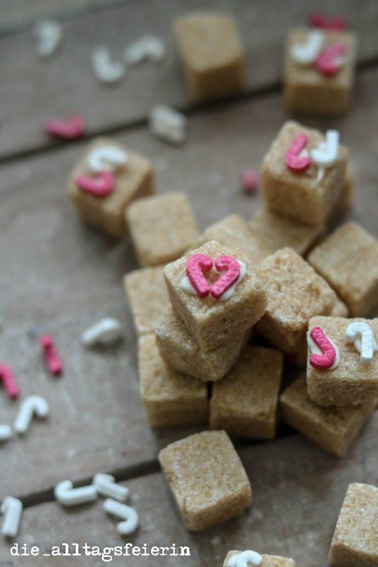 DIY, Zuckerwürfel, Muttertag, Geschenke aus der Küche