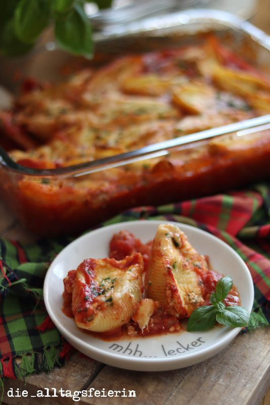 Pastaglück * gefüllte Conchiglioni *