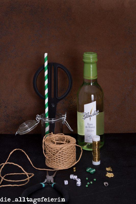 DIY, Blanchet, Anhänger für Weinflasche, Picknick
