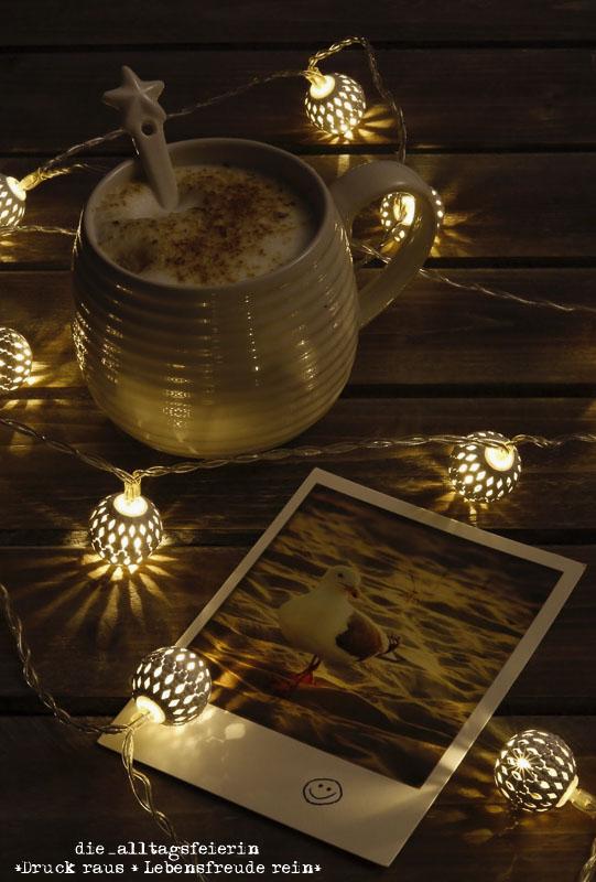 Wochenglückrückblick, Kaffee, hyygelig, guten Morgen, Lichterkette, Überraschungspost, Kaffee